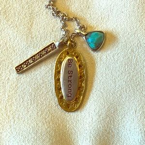 Silpada retired Be Strong Necklace